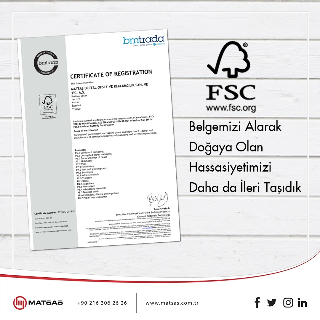 FSC®️ Certificate